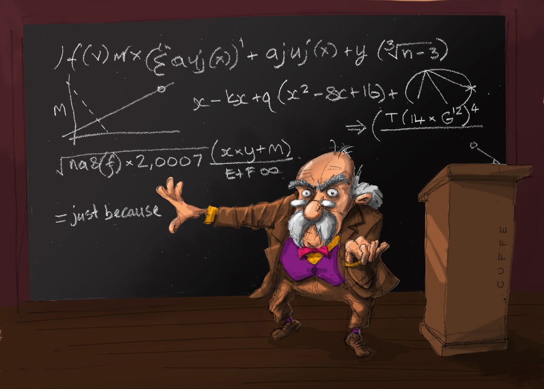 Equation and professor